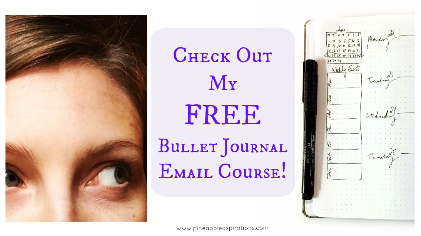 Free Bullet Journal Email Course